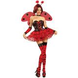 Accesorio Del Traje Rojo Y Negro Polka Dot Lady Bug Muslo
