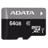 Tarjeta Micro Sd 64gb Adata Premier Clase 10 Uhs-1 50mb/s