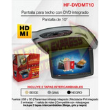 Hf Dvd Pantalla Techo 10 Pulg. Usb Y Sd Hfdvdmt10