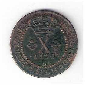X Reis - 1820r - 46 Perolas (c-502)