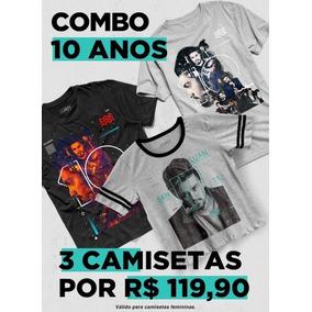 Combo Luan Santana 10 Anos Kit 3 Camisetas
