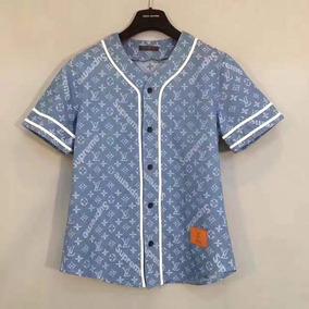 Camisa Supreme X Louis Vuitton Blue