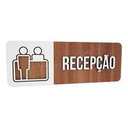 Placa Indicativa  Recepção Consultório Hospital Clinica Bar