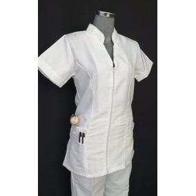 Filipina Para Enfermeria Mod. Mao Con Cierre Blanca