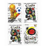 Lote 4 Estampillas España Mundial De Futbol 1982