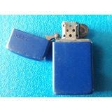Encendedor Zippo Usado Color Azul Detalle De Uso Pequeño