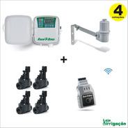 Controlador Rain Bird 4 Est. + 4 Hv 1  + Sensor Chuva + Lnk