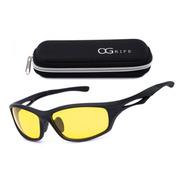 Oculos Noturno Ogrife Solar Masculino Og 1062-c Lent Amarelo