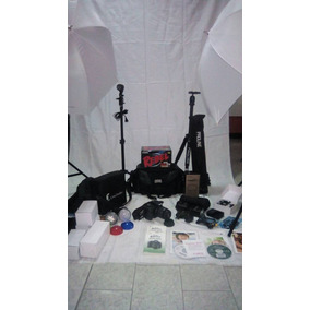 Combo Fotografía Profesional Canon Rebel T3i 400 Fondo Largo