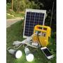 Kit Solar 10w+bateria+2 Luces Led C/cable+radio+mp3