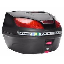 Bauleto Bau Moto Para Bagageiro Mx 30 Litros Mixs Preto