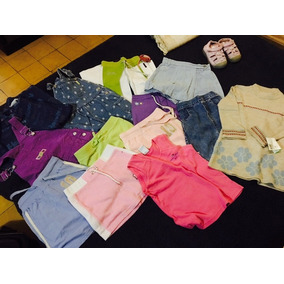 13 Pzas Para Niña.pantalón Short Vestido Falda Talla 5-6años