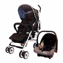 Babynet Coche Bebé Paragua Aluminio Posiciones + Huevito Q36