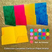 Carpetas En Papel Araña (pqte De 24 Unidades)