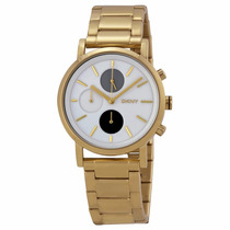 Relógio Analógico Dkny Ny2147 Gold Tone Steel Bracelet