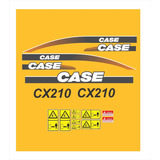 Kit Adesivo Escavadeira Hidraulica Case Cx210