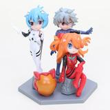 Set De 3 Figuras Neon Genesis Evangelion Anime Manga Gainax
