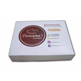 Caixa De Papelão Personalizada 5,5x18x24 Doces, Salgados Etc