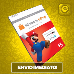 Cartão Nintendo Usa 3ds - Wii U Eshop Cash Card $5 Dólares