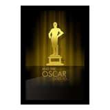 Quadro Porta Ingressos De Cinema Oscar C-3po 28x41