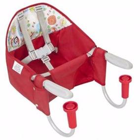 Cadeira De Refeição Vermelha Bebê Portátil Para Mesa