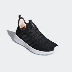 Tenis adidas Cloudfoam Pure Negros Dama Run Train Originales