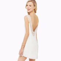 Blusa Blanca Con Encaje En La Espalda