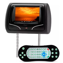 Encosto De Cabeça Kx3 Preto Com Leitor Dvd Usb Joystick Lcd