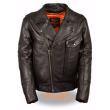 Chaqueta De Cuero Moto Motorizado Milwaukee Leather Soa