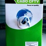 Cabo De Rede Cftv 4 Pares Hoopson Cat5 305mts Azul