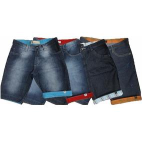 5 Bermudas Shorts Jeans Masculinas Atacado Pronta Entrega