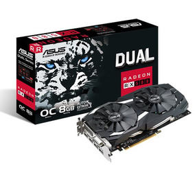 Placa Video Amd Ati Radeon Asus Rx 580 8gb Dual Oc Mexx 3