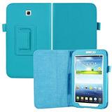 Galaxy Tab 3 Case, Slickblue Flip Ligero De Cuero Elegant...