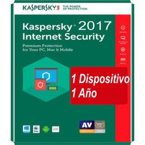 Kaspersky Antivirus Internet Security 2017 2018 1 Pc X 1 Año