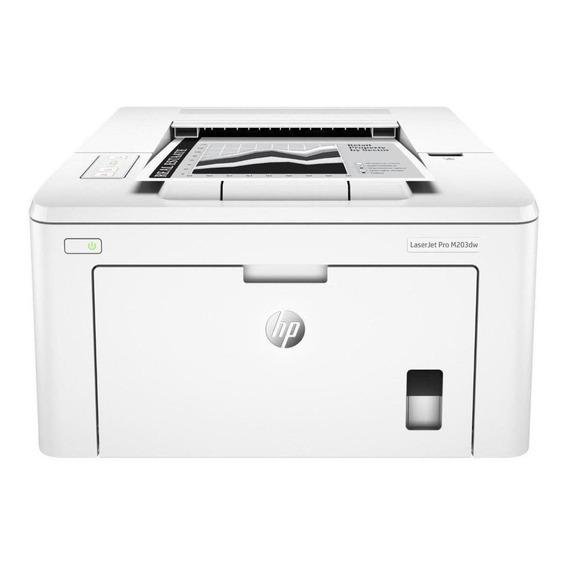Impresora Hp Laserjet Pro M203dw Con Wifi 220v Blanca