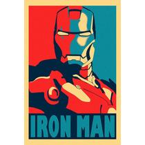 Poster Em Lona - Homem De Ferro 120x80cm