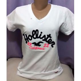 Kit C/ 15 Camisetas Gola V Feminina Hollister