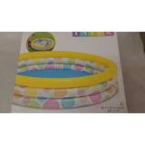 Piscina Intex Inflável 288litros Infantil 3 Anéis Coloridos
