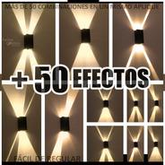 Aplique Pared Interior Luz Transformable En Más De 50 Efecto Luces Difusor Moderno Hierro Bidireccional Spot Apto Led