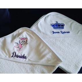Toallones Con Capucha Para Bebes Toalla Doble Felpa Bordada