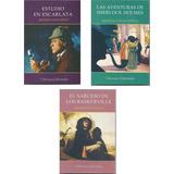 Lote X 3 Libros Sherlock Holmes Arthur Conan Doyle Nuevos