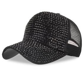 7e4416122a1ba Tapa Béisbol Malla Ajustable Diamante De Imitación Sombrer