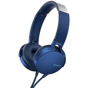 Fone De Ouvido Supra Auricular Sony Xb550 Azul