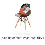 Silla Eames Patchwork I Vintage Sitial Comedor Escritorio