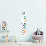 Régua Adesiva Infantil Sereias Coloridas N09206 20x115cm