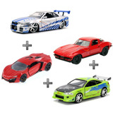 Kit Eclipse + Nissan Skyline + Chevy Corvette + Lykan 1:24