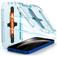 Vidrio Templado Spigen iPhone 12/12 Pro Ez Fit Glas.tr Sl X2