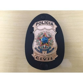 Distintivo Policia Civil Nacional - Frete Gratis