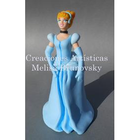 Cenicienta 17 Cm, Porcelana Fría, Disney, Torta O Adorno