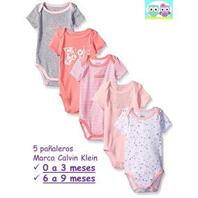 Ropa Bebé Pañaleros Calvin Klein Para Niña Tonos Durazno